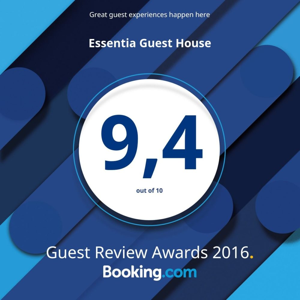 9.4/10 Guest Review Awards 2016 Booking.com
